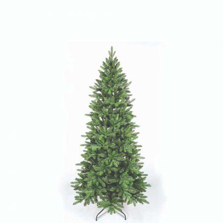 Χριστουγεννιάτικο δέντρο Slim Όλυμπος - PVC PE 180cm