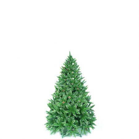 Χριστουγεννιάτικο δέντρο Sarp με λίγο χιόνι και κουκουνάρια PVC 120cm
