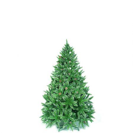 Χριστουγεννιάτικο δέντρο Sarp με λίγο χιόνι και κουκουνάρια PVC 150cm