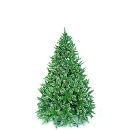 Χριστουγεννιάτικο δέντρο Sarp με λίγο χιόνι και κουκουνάρια PVC 180cm