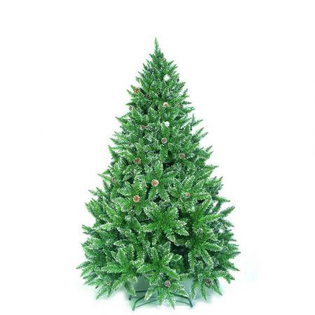 Χριστουγεννιάτικο δέντρο Sarp με λίγο χιόνι και κουκουνάρια PVC 210cm