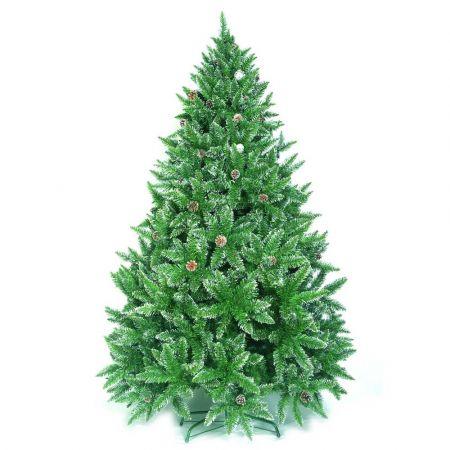 Χριστουγεννιάτικο δέντρο Sarp με λίγο χιόνι και κουκουνάρια PVC 240cm