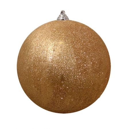 XL Διακοσμητική χριστουγεννιάτικη μπάλα Glitter Χρυσή 30cm