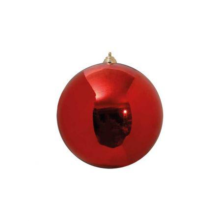 XL Διακοσμητική χριστουγεννιάτικη μπάλα Κόκκινη γυαλιστερή 15cm