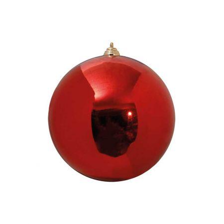 XL Διακοσμητική χριστουγεννιάτικη μπάλα Κόκκινη γυαλιστερή 20cm
