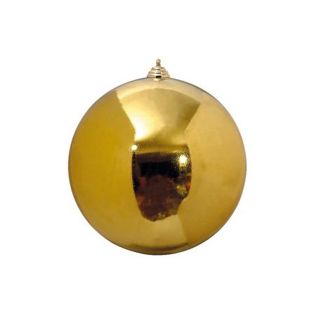 XL Διακοσμητική χριστουγεννιάτικη μπάλα Χρυσή γυαλιστερή 20cm
