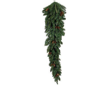 Κρεμαστό χριστουγεννιάτικο δέντρο τοίχου με κουκουνάρια PVC 120cm