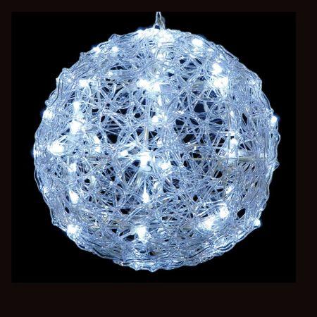 Χριστουγεννιάτικη φωτιζόμενη μπάλα 100LED Λευκό LED 35cm