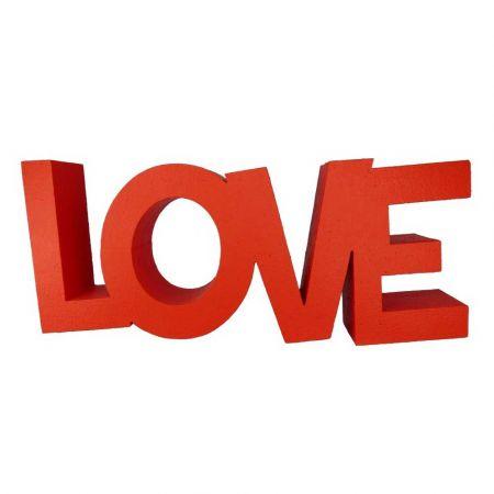 Διακοσμητικά γράμματα LOVE Κόκκινα 20x50x8cm