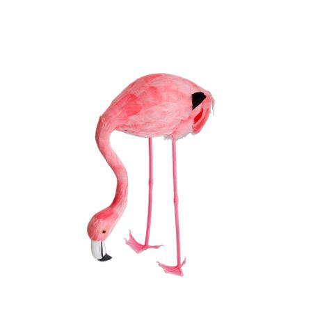 Διακοσμητικό Φλαμίνγκο Ροζ με σκυμμένο λαιμό 39cm