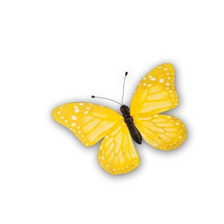 Διακοσμητική πεταλούδα PVC Κίτρινη 30x22cm