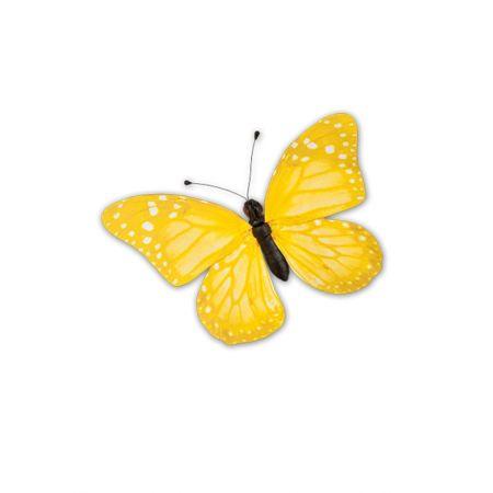 Διακοσμητική πεταλούδα PVC Κίτρινη, 50x35 cm