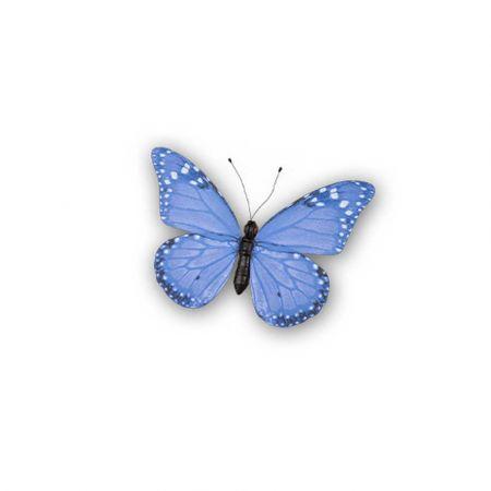 Διακοσμητική πεταλούδα PVC Μπλε 20x15cm