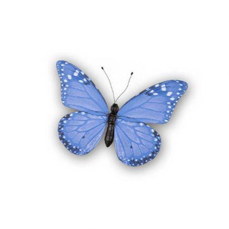 Διακοσμητική πεταλούδα PVC Μπλε 30x22cm