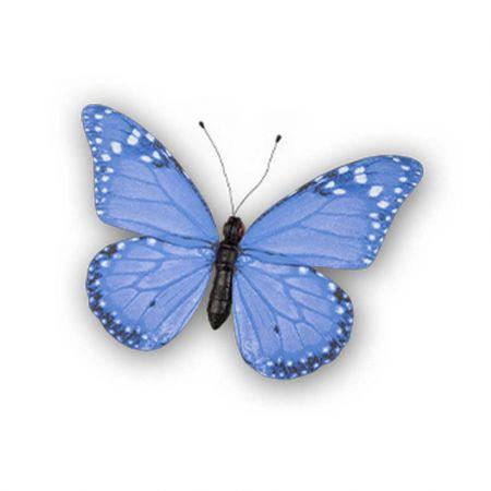 Διακοσμητική πεταλούδα PVC Μπλε 50x35cm