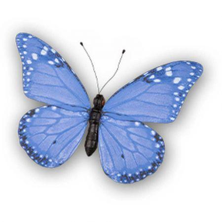 Διακοσμητική πεταλούδα PVC Μπλε 80x60cm