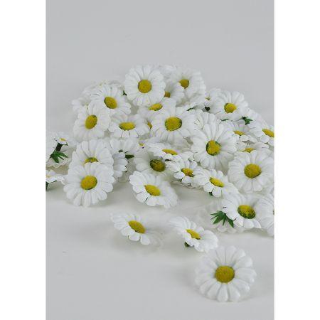 Σετ 60τχ mini διακοσμητικά άνθη κατασκευασμένα από ύφασμα.