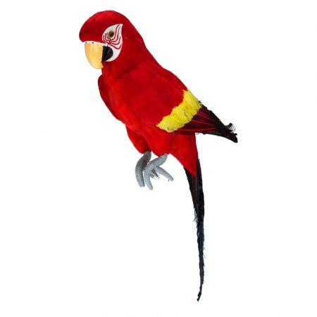 Διακοσμητικός παπαγάλος Κόκκινος 67cm