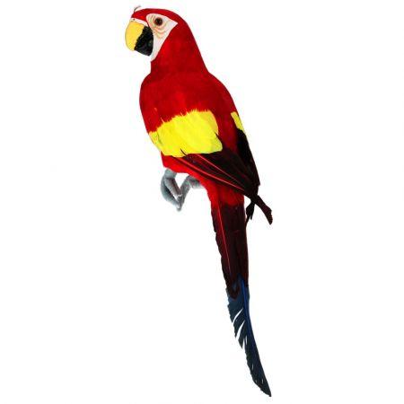 Διακοσμητικός παπαγάλος Κόκκινος 42cm