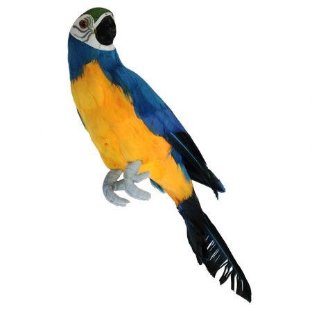 Διακοσμητικός παπαγάλος Mπλέ 34cm