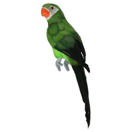 Διακοσμητικός παπαγάλος Πράσινος 34cm