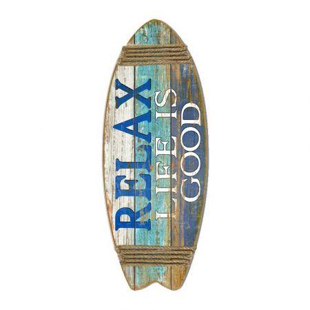 Διακοσμητική σανίδα Surf - Relax Life is Good 85x33cm