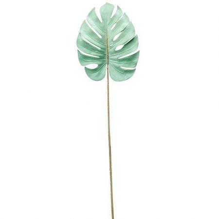 Διακοσμητικό φύλλο Monstera Πράσινο Μέντα 75cm