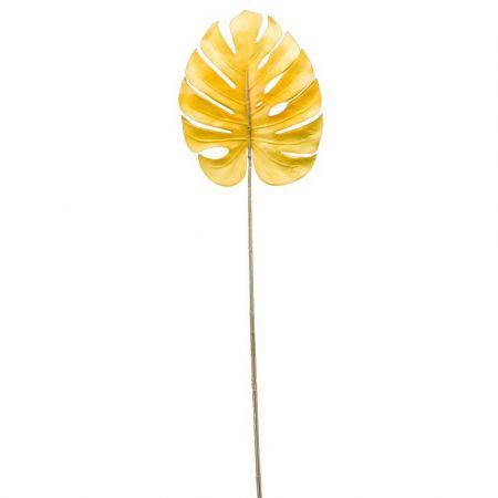 Διακοσμητικό φύλλο Monstera Κίτρινο 75cm
