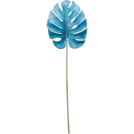 Διακοσμητικό φύλλο Monstera Γαλάζιο 75cm