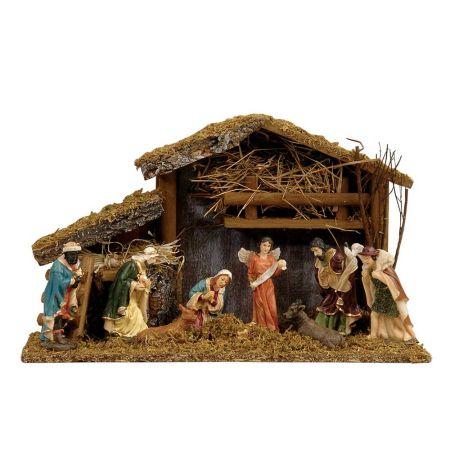 Χριστουγεννιάτικη Φάτνη ξύλινη 40x14x24cm