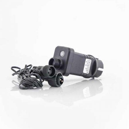 Μετασχηματιστής IP44 για LED λαμπάκια σε σειρά με μνήμη και πρόγραμμα 3m