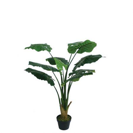 Real Touch Τεχνητό φυτό Πλατύφυλλο σε γλάστρα 90cm