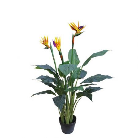 Τεχνητό φυτό Στρελίτζια σε γλάστρα 96cm