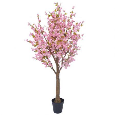 Τεχνητό φυτό Κερασιά με Ροζ άνθη σε γλάστρα 230cm