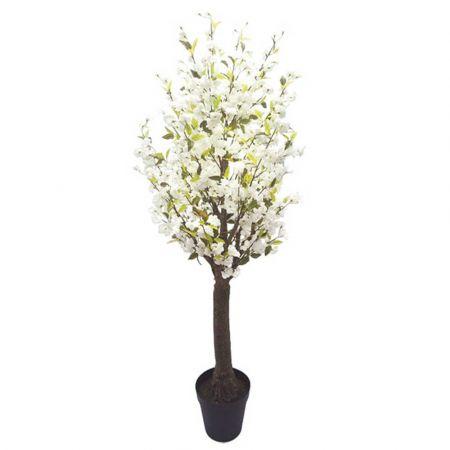 Τεχνητό φυτό Κερασιά με Λευκά άνθη σε γλάστρα 230cm
