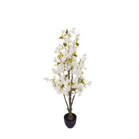 Τεχνητό φυτό Κερασιά με Λευκά άνθη σε γλάστρα 130cm