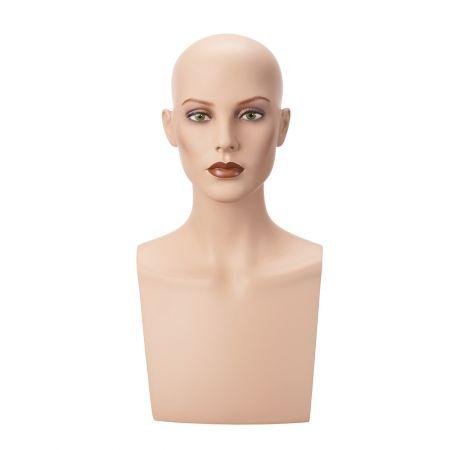 Διακοσμητικό Κεφάλι-Μπούστο Γυναικείο με Make-up 50cm