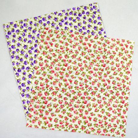Σετ 50τμχ. Διακοσμητικό ύφασμα με Τριαντάφυλλα