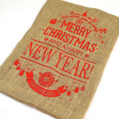 Διακοσμητικό Χριστουγεννιάτικο πουγκί - τσουβάλι για δώρα 40x50cm
