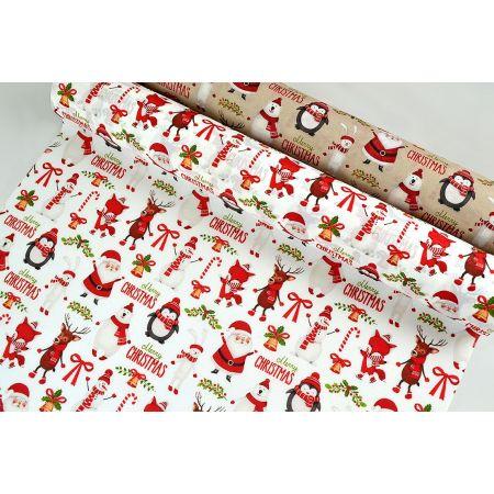 Χριστουγεννιάτικο ύφασμα CHRISTMAS FEAST 50cm / 75cmx5m