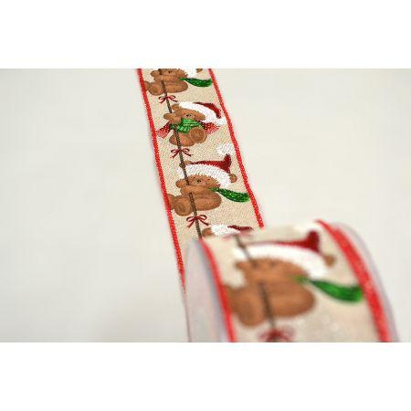 Χριστουγεννιάτικη κορδέλα με Ζαχαρωτά Μπαστουνάκια 5.5cmx9m
