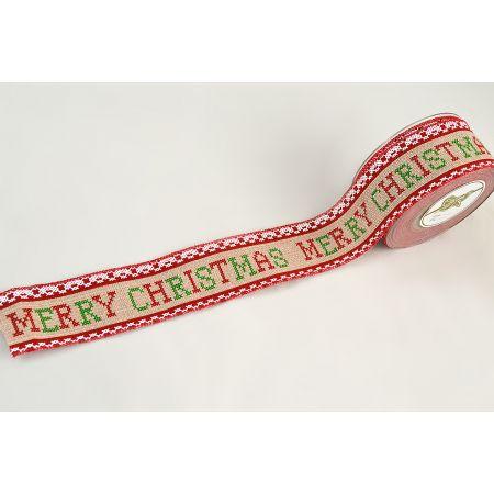 Χριστουγεννιάτικη κορδέλα MERRY CHRISTMAS 5cmx9m
