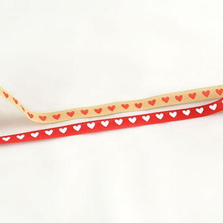 Διακοσμητική κορδέλα με Καρδούλες 1.3cmx9m