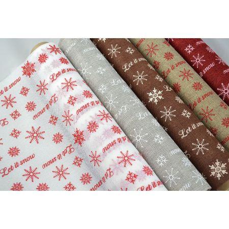Χριστουγεννιάτικο ύφασμα ΚΑΜΒΑΣ LET IT SNOW 50cmx5m