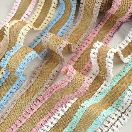 Διακοσμητική κορδέλα ΤΣΟΥΒΑΛΙ με Ξέφτια 3cm / 5cm / 8cmx4.5m