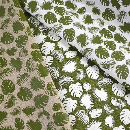 Διακοσμητικό ύφασμα με Τροπικά Φύλλα 50cmx5m