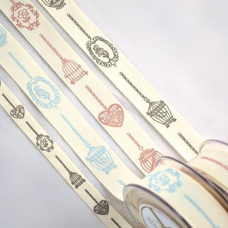Διακοσμητική κορδέλα με Κλουβιά 1.5cmx18.2m - 2.5cmx9m