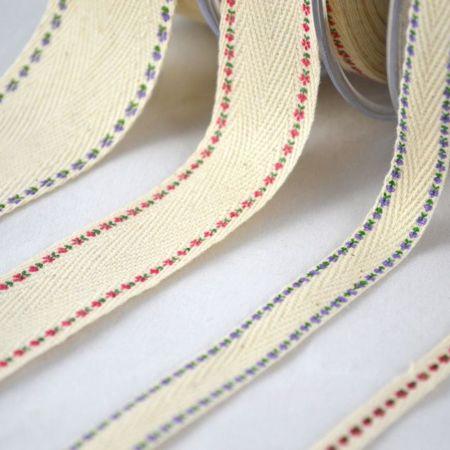 Διακοσμητική κορδέλα FLORAL 6mmx23m - 1.3cmx18.2m - 2.5cm / 3.8cmx9m