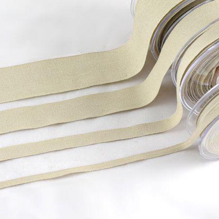 Διακοσμητική κορδέλα Βαμβακερή Φυσικό 6mmx23m - 1.3cmx18.2m - 2.5cm / 3.8cmx9m