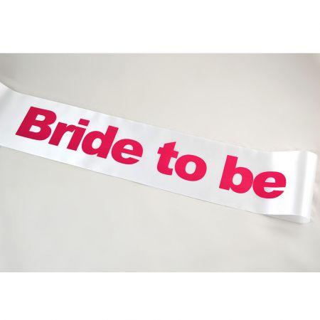 Διακοσμητική κορδέλα BRIDE TO BE 14cmx1.7m